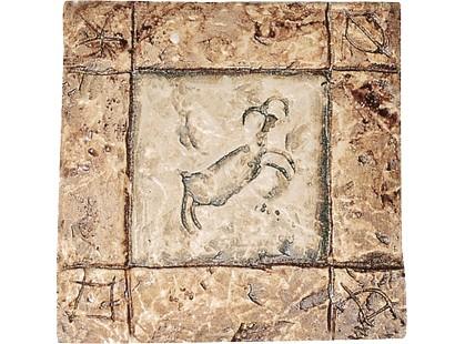Serenissima Cir Quarry stone Formella Graffiti S/3 Noce