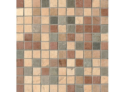 Serenissima Cir Quarry stone Mosaico Mix Full Tessera (Amber, Forest, Sand, Slate, Terra)