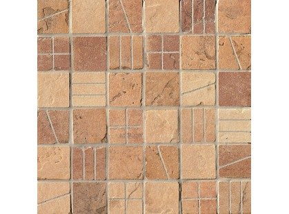 Serenissima Cir Quarry stone Mosaico Mix Vintage Light Tessera (amber, Sand, Terra)