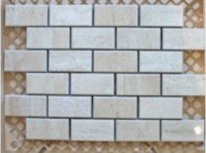 Serenissima Cir Travertino Мозаика MIX Кирпичики 3х6 Со Смещением Beige/Crema
