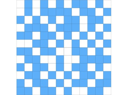 Slava Zaitsev Arcobaleno Fiori Mosaico White- Blue