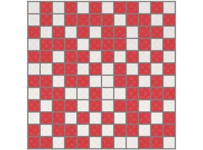 Slava Zaitsev Arcobaleno Fiori Mosaico White-Red