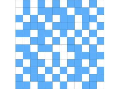 Slava Zaitsev Arcobaleno Mosaico White- Blue