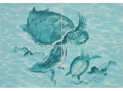 Уралкерамика Лагуна 77Ч  Черепахи (из 4 плиток)