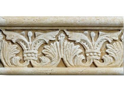 Vallelunga Pietra romana Ocra Listello 7x15