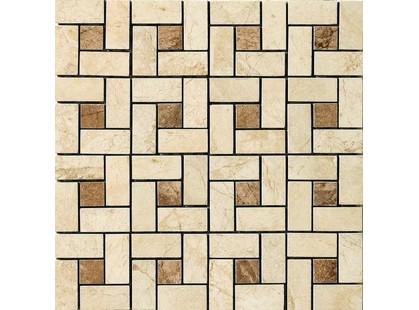Vallelunga Pietre dei consoli Cassia Pin Wheel Mosaico (Beige/Noce)