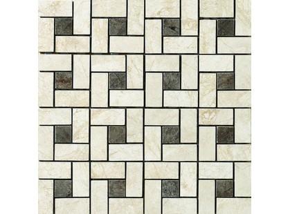 Vallelunga Pietre dei consoli Flaminia Pin Wheel Mosaico (Bianco/ Nero)