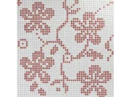 Vitrex Mosaico Tessuto Ibiscus C White/Pink 1x1 (из 4 шт.)