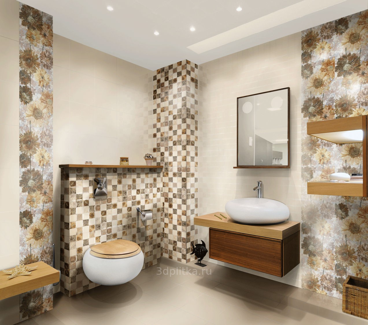Ceramic bath tile