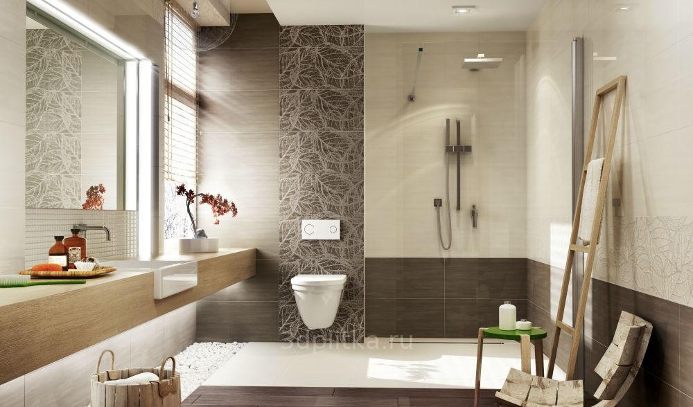 Braun Beige Badezimmer