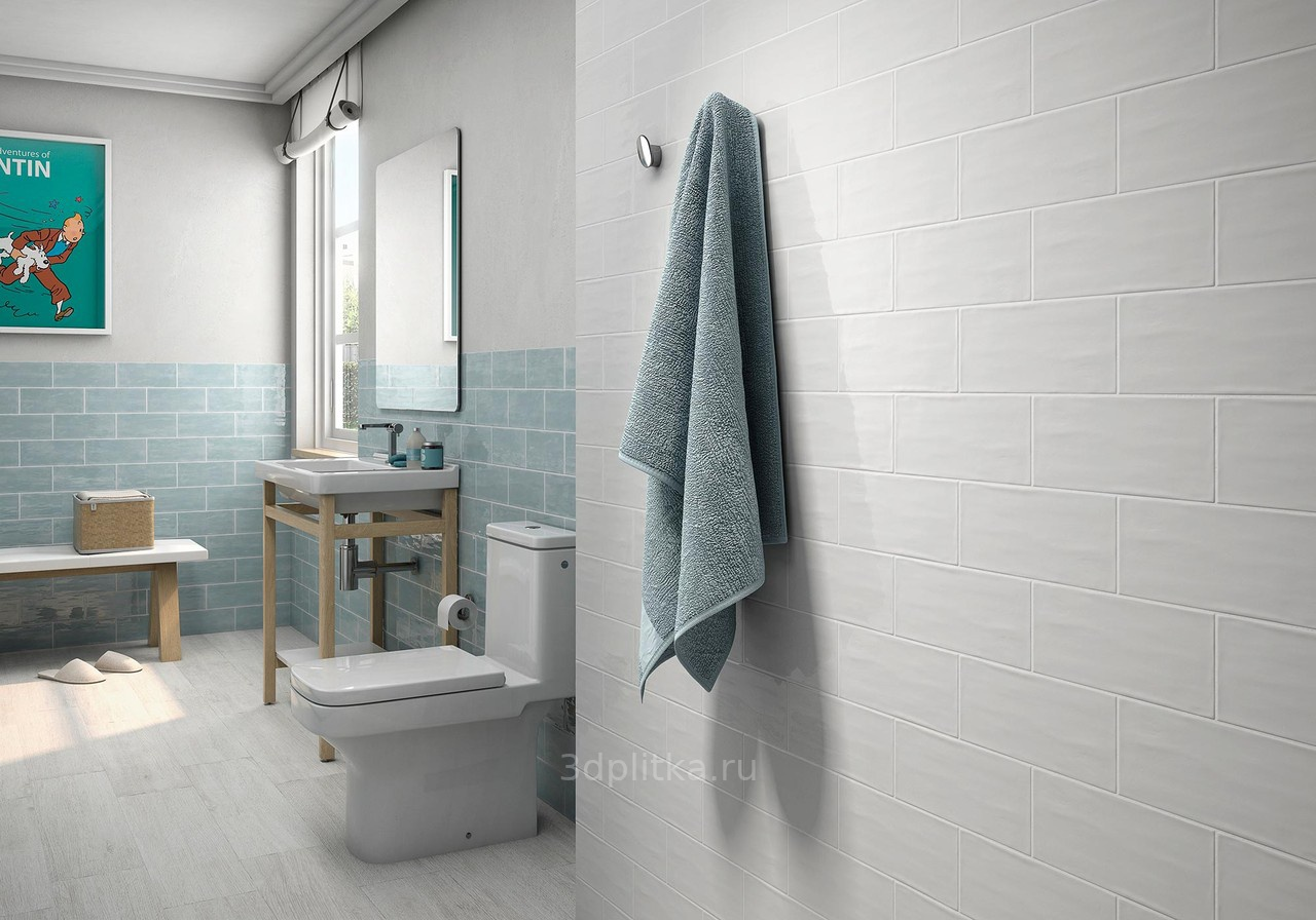 Tender gray subway tile