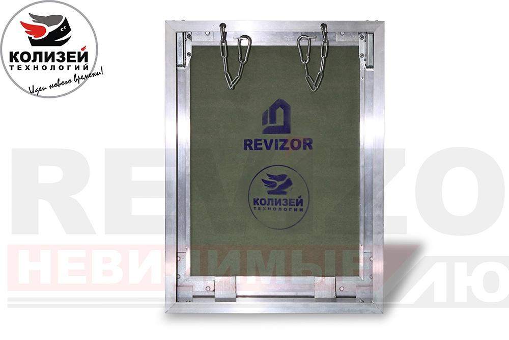 ревизионный сантехнический люк revizor 4040 т34 под плитку, нажимной